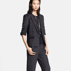 Rag and Bone Howard Tweed Blazer Jacket Black